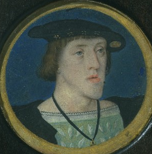 Charles V, ca. 1525 (Lucas Horenbout) (1490-1544) Victoria and Albert Museum, London P.22-1942