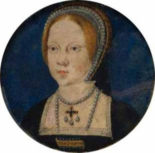 Mary Tudor, ca. 1521-1525 during engagement to Charles V (attrib. Lucas Horenbout) (1490-1544) National Portrait Gallery, London 6453