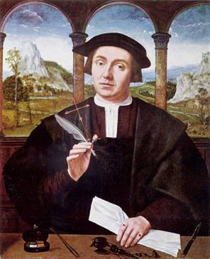 A Notary, ca. 1522 (Quentin Massys) (1466-1530) Location TBD