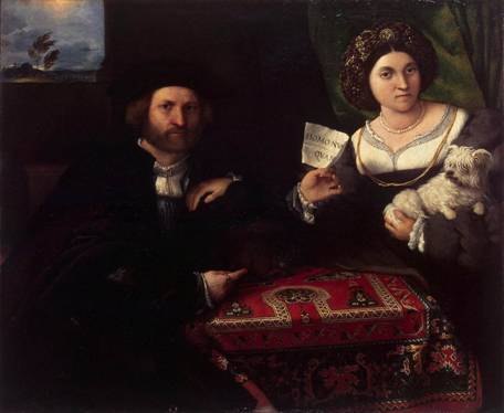 A Husband and Wife, ca. 1523 (Lorenzo Lotto) (1480-1556) State Hermitage Museum, St. Petersburg