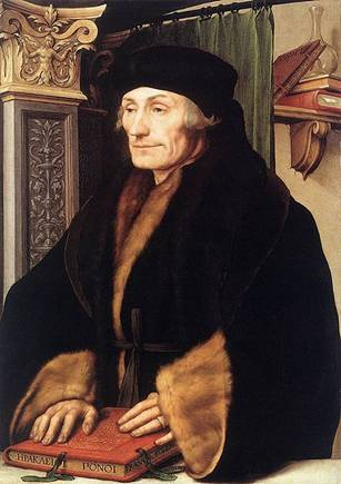 Erasmus in Basel, ca. 1523 (Hans Holbein the Younger) (1497-1543) The National Gallery, London