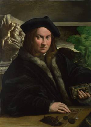 A Collector (from Parma?), ca. 1523 (Parmigianino) (1503-1540)The National Gallery, London NG 6441