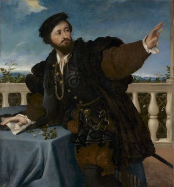 A Man, ca. 1525 (Lorenzo Lotto) (1480-1556) Cleveland Museum of Art, OH 1950.250