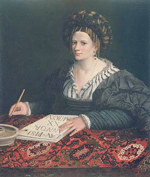 Laura Pisani at 20 years old, 1525 (circle of Dosso Dossi) (1490-1542) J. Paul Getty Museum, Los Angeles, CA 78.PA.226