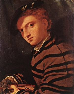 A Young Man with Book, ca. 1526 (Lorenzo Lotto) (1480-1556) Location TBD