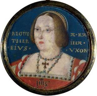 Catherine of Aragon, ca. 1525 (attributed to Lucas Horenbout) (1490-1544) National Portrait Gallery, London 4682