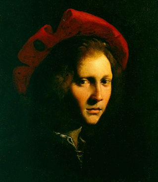 A Young Man with a red hat, ca. 1525 (Girolamo da Carpi) (1501-1556) Location TBD