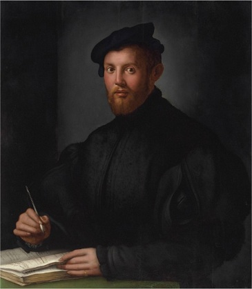 A Young Bearded Man with Book, ca. 1525 (attributed to Agnolo Bronzino) (1503-1572) Christie's Fine Art Auction, Sale 2673, Lot 152