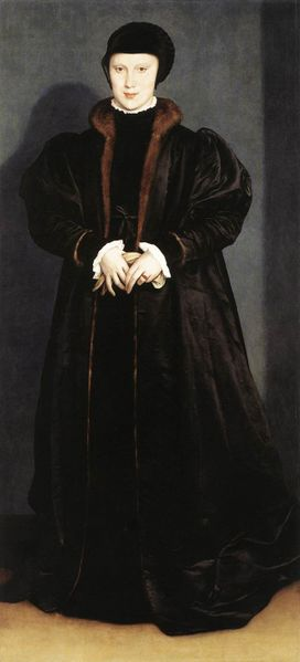 Christina of Denmark, Duchess of Milan (Hans Holbein the Younger) (1497-1543) National Gallery, London