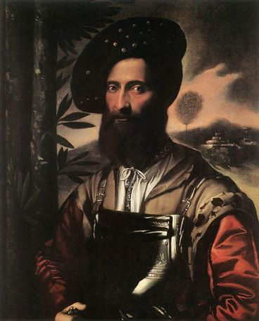 Man in Armor 1530  by Dosso Dossi Location TBD