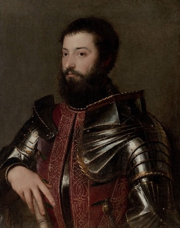 A Man in Armor, 1530 (Titian) (ca. 1488-1576)  Hammer Museum, Los Angeles, CA
