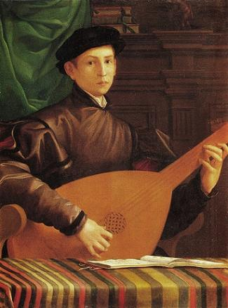 A Young Man playing the Lute, ca. 1536 (attributed to Jacopino del Conte) (1510-1598)  Musée Jacquemart-André, Paris