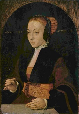 A Young Woman at 19 years of age, 1539  (Barthel Bruyn the Elder)  (1493-1555)  Location TBD