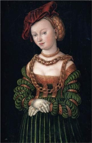 Young Woman  ca 1530 by Lucas Cranach the Elder 1472-1553 Location TBD