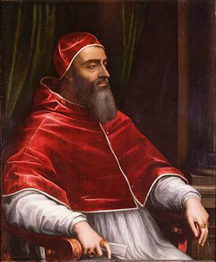 Pope Clement VII,  ca. 1531   (Sebastiano del Piombo) (1485-1547)  J. Paul Getty Museum, Los Angeles, CA   92.PC.25