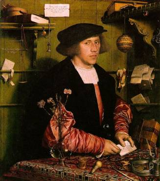 Georg Gisze, a  German Merchant in London, ca. 1532   (Hans Holbein the Younger)  (1497-1543)     Staatliche Museen zu  Berlin,    Gemäldegalerie