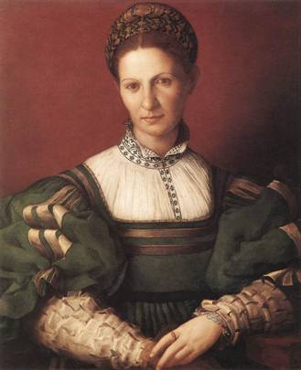 A Lady in Green, ca.  1530-1532 (Agnolo Bronzino) (1503-1572)   The Royal Collection, Windsor