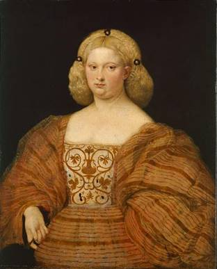 A Venetian Lady, ca. 1530-1535 (attributed to Cariani) (1485-1548)    GG_355