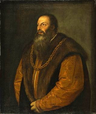 Pietro Aretino ca. 1537  Titian  1488-1576   The Frick Collection New York. NY 1905.1.115