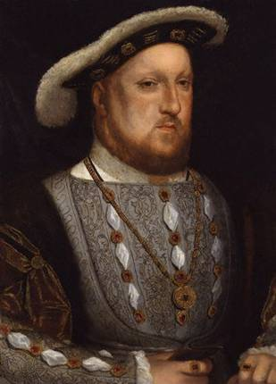 Henry VIII (ver  2), ca. 1537   (Hans Holbein the Younger)  (1497-1543) Location TBD