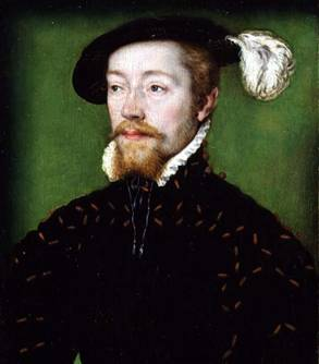 James V of Scotland, ca. 1536-1537  (Corneille Lyon)  (1500-1575) Private Collection    Weiss Gallery, London