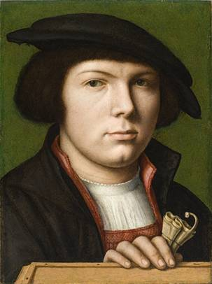 A Young Man, ca. 1538   (Joos van Cleve) (1485-1540) Los Angeles County Museum of Art, CA  AC1993.132.1