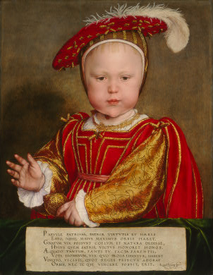 Edward VI of England, ca. 1538   (Hans Holbein the Younger) (1497-1543)     National Gallery of Art, Washington D.C.    1937.1.64