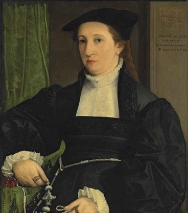 Barbara Schwarz, 1542 dated (Christoph Amberger) (1505-1562) Christie's Fine Art Auction, New York, NY Sale 2819