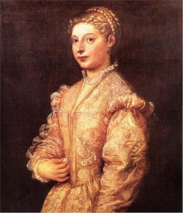 Lavinia, daughter of the artist, ca. 1545 (Titian Vecelli) (ca. 1488-1576)   Museo di Capodimonte, Napoli