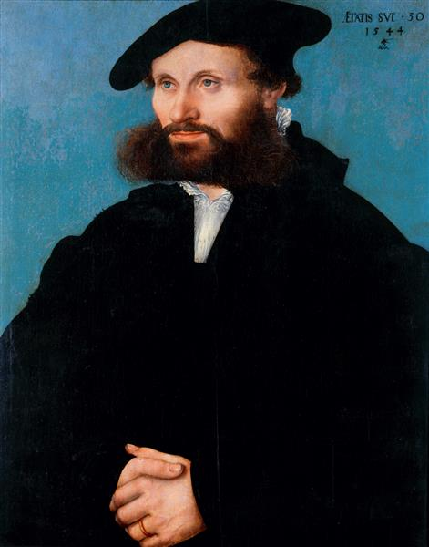 A Man 1544 by Lucas Cranach the Elder and Younger 1515-1586  SKD Gal Nr 1917A