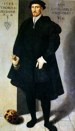 Thomas Gresham at 26 years old, 1544 (UA Flemish School) The Mercers Company