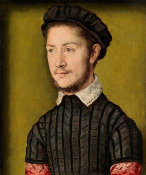 A Young Man ca 1547-1550 by Corneille de Lyon  Richard Green Gallery London