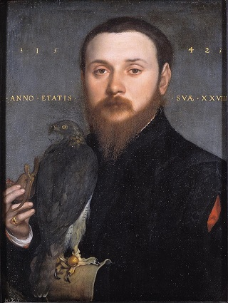 A Falconer at 28 years old, ca. 1542 (Hans Holbein the Younger) (1497-1543) Mauritshuis, Den Haag, 277