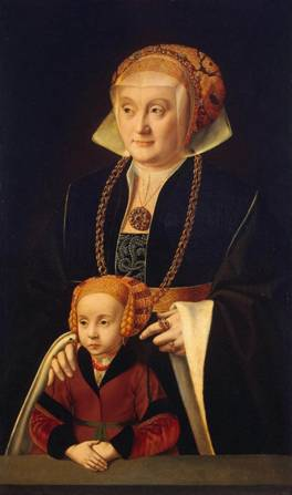 A Woman and Daughter, ca. late 1530's-early 1540's (Barthel Bruyn) (1493-1555)State Hermitage Museum, St. Petersburg