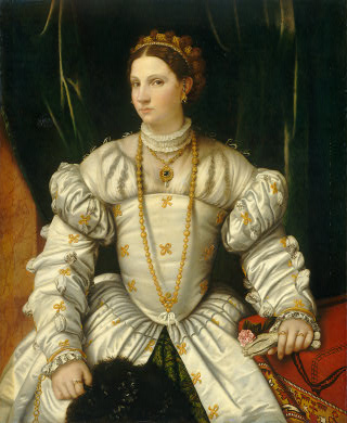 A Lady, ca. 1540 (Moretto da Brescia) (1498-1554) National Gallery of Art, Washington D.C.   1939.1.230