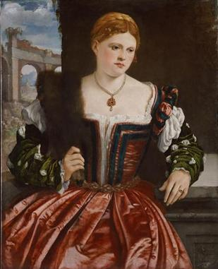 A Young Lady, ca. 1540 (Unknown Artist, Lombard/Brescia) Kunsthistorisches Museum, Wien GG_1914