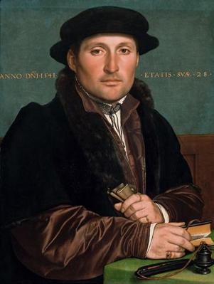 A Young Merchant at 28 years old, 1541 (Hans Holbein the Younger) (1497-1543) Kunsthistorisches Museum, Wien GG_905