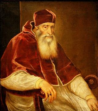 Pope Paul III, papacy 1534-1549, 1543  (Titian) (1488-1576)  Location TBD