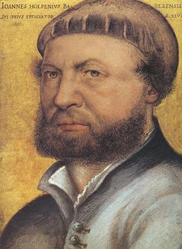 Self-Portrait, ca. 1543  (Hans Holbein the Younger) (1497-1543)  Galleria degli Uffizi, Firenze