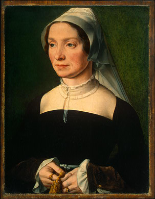 A Wife of a Member of the de Hondecoeter Family, ca. 1543 (Unknown Artist, Antwerp) National Gallery of Art, Washington D.C. 1953.3.4