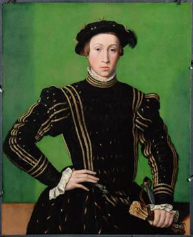 Maximilian II at 17 years old, 1544 (William Scrots) (??-1553) Location TBD