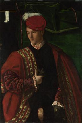 Ludovico Martinengo,  ca. 1546     (Bartolomeo Veneto) (fl. 1503-1546) The National Gallery, London    NG 287