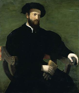 A Gentleman, ca. 1543-1546  (Cecchino del Salviati) (1510-1563) Private Collection