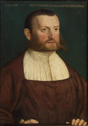 A Man at 34 years old, ca. 1546 (UA Southern Germany)Kunsthistorisches Museum, Wien GG_5625