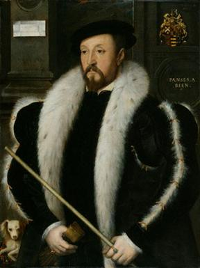 Thomas Wentworth, 1st Baron Wentworth, ca. 1547 (attributed to John Bettes the Elder) (fl. 1531-1570) National Portrait Gallery, London 1851