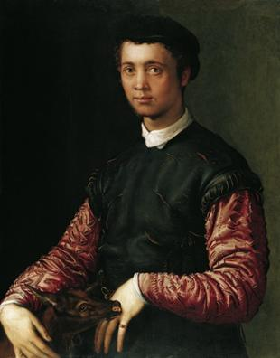 A Young Man, 1548   (Francesco Salviati) (1510-1563) Liechtenstein Museum, Wien    GE848