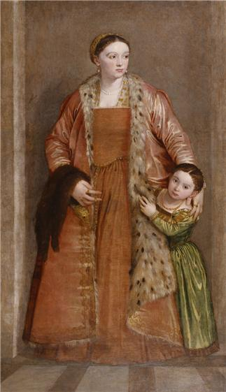 Countess Livia da Porto Thiene and Daughter Porzia, ca. 1551 (Paolo Veronese) (1528-1588) Walters Art Museum, Baltimore, MD