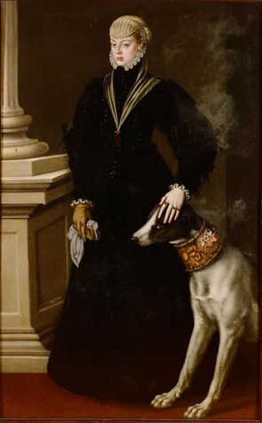 Johanna of Austria, Dona Juana, Princess of Portugal at 22 years of age, ca. 1557 (Alonso Sánchez Coello) (1531-1588) Kunsthistorisches Museum, Wien,  GG_3127