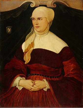 Anna Hungerl , wife of Munich Councillor Joseph Showinger von Wyl, 1553 (circle of Hans Mielich) (1516-1573) Kunstmuseum Basel, Inv. 1244