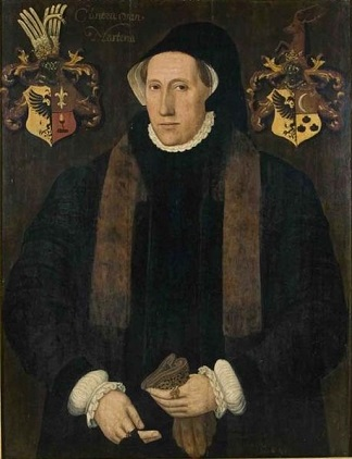 Cunera van Martena, 1553 (attributed to Adriaen van Cronenburg) (ca. 1525-1604)   Fries Museum,  Leeuwarden